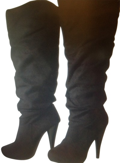 Michael Antonio black faux suede Boots