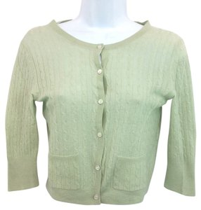 Theory Cashmere Knit Top LIGHT GREEN