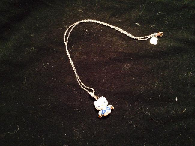 Item - White Blue Pink Libra Necklace