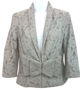 H&M H & M Lace Blouse GRAY Blazer