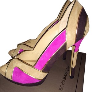 BCBGMAXAZRIA Pink Colorblock Pumps