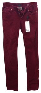 Dolce&Gabbana Straight Pants Dark Red