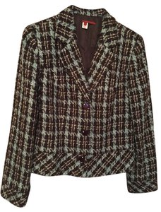 Tapemeasure plaid, teal, black, and pink Blazer