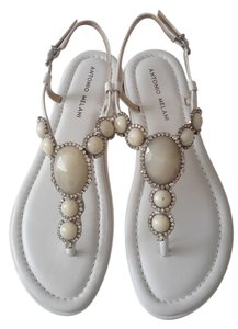 Antonio Melani Stones White Sandals