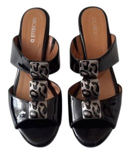 Michelle D Patent Leather Comfortable Black Wedges