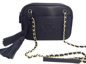 Tory Burch Thea Chain Black Navy Cross Body Bag