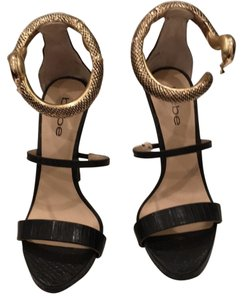 bebe Black leather Platforms