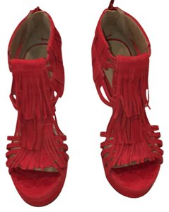 bebe Red suede Platforms