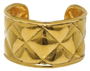 Chanel Chanel Gold Quilted Cuff Bracelet