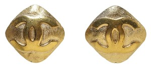 Chanel Chanel Gold CC Diamond Clip On Earrings