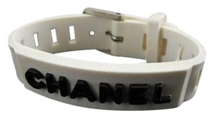 Chanel White/Black Rubber Bracelet