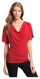 H&M Cowl Neck Jersey Wear To Work T Shirt red