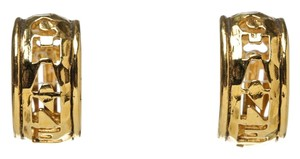 Chanel Chanel Gold Hammered Clip On Earrings