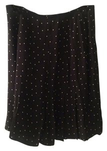 Dana Buchman Skirt Black w/ White Polka Dots