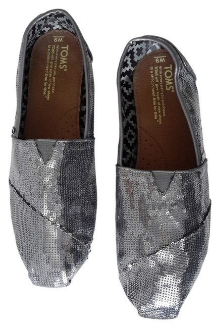 Item - Platinum Grey 60%+ Off Sequin Flats Size US 9 Wide (C, D)