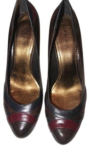Nine West Pump Dark Grey/ Cognac Pumps