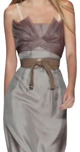 BCBGMAXAZRIA Bcbg Runway Silk Gray Dress