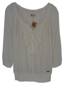 Hollister New With Tags Sheer Top Ivory
