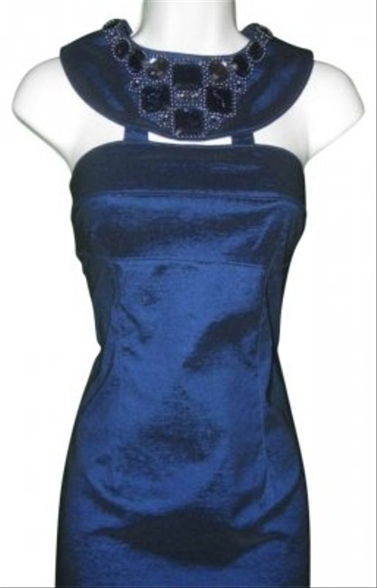 Preload https://item1.tradesy.com/images/adrianna-papell-sapphire-blue-jewel-neck-halter-above-knee-cocktail-dress-size-12-l-131190-0-0.jpg?width=400&height=650