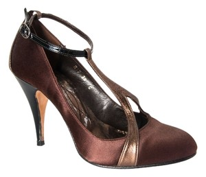 Reiss Mary Jane Pump Heels Bronze/Brown Pumps