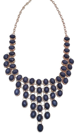 Other Blue Stone Necklace & Drop Earrings
