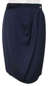 Joan & David Blue Fully Skirt Navy