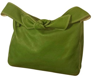 Kate Spade Bow Made In Italy New York Leather Satchel in Green