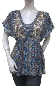 Lola P Floral Cap Sleeve Tunic