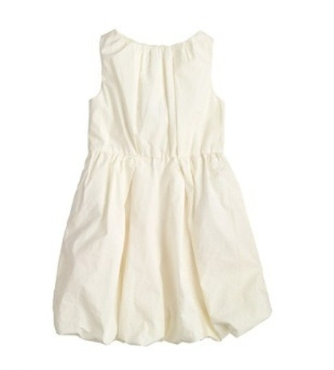 J.Crew Beige Cotton New Girl's / Off White Flowergirl Bubble Vintage Dress Size OS (one size)