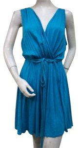 LAmade short dress Blue La Made Teal Surplice Knit on Tradesy
