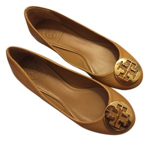 Tory Burch Classic Modern Everyday Work Business royal tan/gold Flats