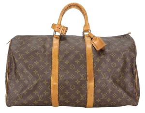 Louis Vuitton Duffle Travel Monogram Travel Bag