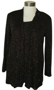 Ronni Nicole Top BLACK & SHINY GLIMMER