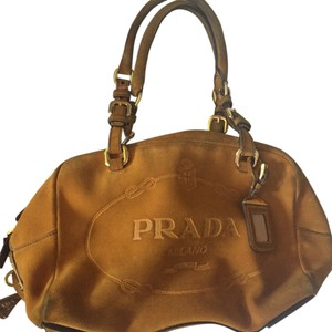Prada Tote in Orange Tan