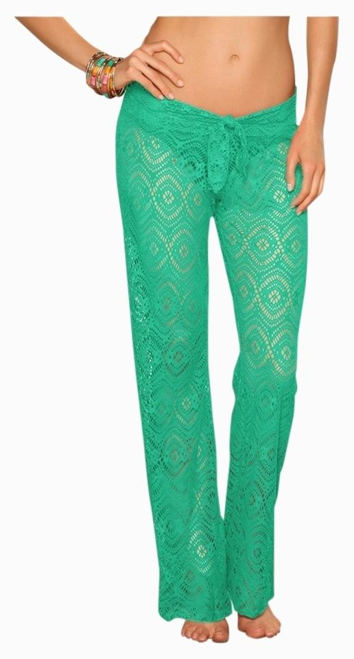 84579b8205 Becca by Rebecca Virtue Mint Green Large Tie-front Crochet Pants Cover-up/ Sarong. Size: 12 ...