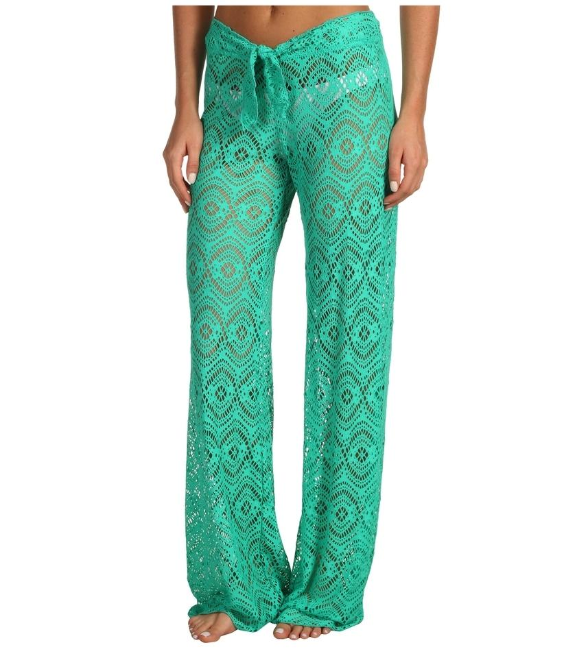 140b0c5097 Becca by Rebecca Virtue Size: LARGE Tie-front Crochet Cover-up Pants Image.  123