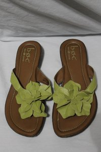 B.O.C. Leather Upper Size 8 Lime Sandals
