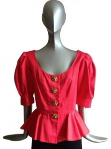 Yves Saint Laurent Top red
