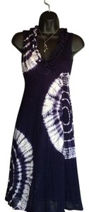 INC International Concepts short dress Navy and White on Tradesy