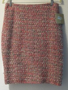 Ellen Tracy Skirt Pinks/Coral/Taupes/Gray/Cream