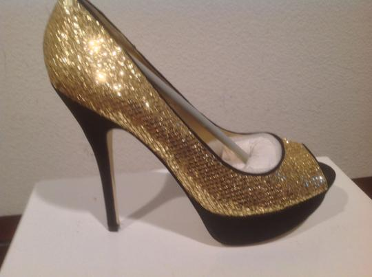 Truth or Dare by Madonna Gold and black Platforms