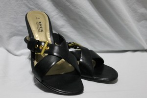 Basic Editions Wide Width Black Mules