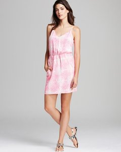 Amanda Uprichard short dress Pink & white Joie Josie Parker Saks on Tradesy