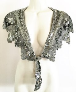 Shawl / Capelet / Collar; Hand Beaded & Sequined [ Roxanne Anjou Closet ]