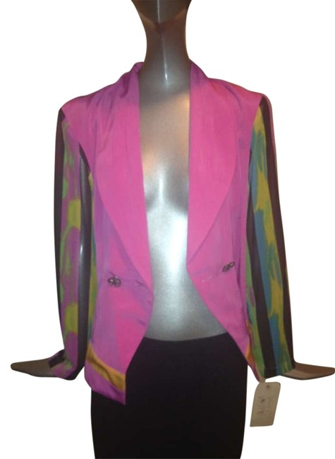 Preload https://img-static.tradesy.com/item/131213/versace-multi-with-pinks-vintage-avante-garde-sheer-sleeve-jacket-blazer-size-8-m-0-0-650-650.jpg
