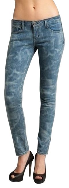 Item - Medium Wash Lucy Crystal Low Rise Zip Skinny Jeans Size 26 (2, XS)