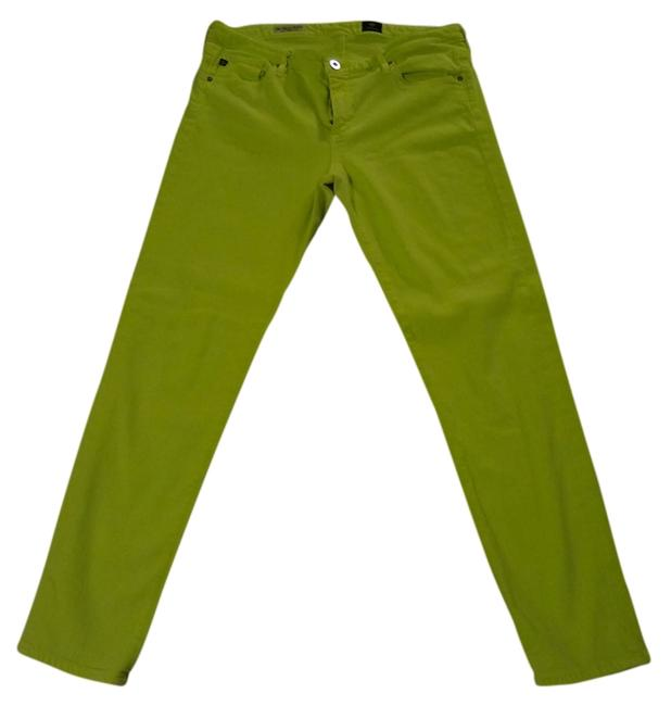 Item - Neon Lime Medium Wash Stevie Ankle Skinny Jeans Size 32 (8, M)