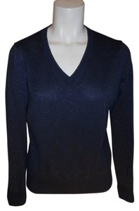 Brooks Brothers Cotton Metallic Sweater