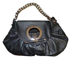 Dior Christian Satchel Leather Suede Lining Hobo Bag