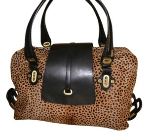Jimmy Choo Haircalf Leopard Shoulder Bag